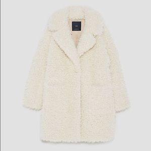 Textured Curl Knit Coat